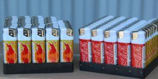 Поддельные зажигалки «Coca-Cola» и «Red Bull»