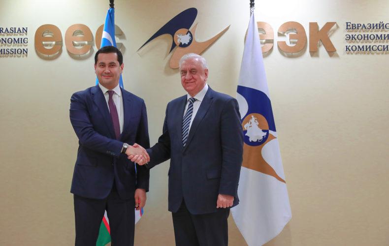 Михаил Мясникович провел встречу с заместителем Премьер-министра Узбекистана Сардором Умурзаковым