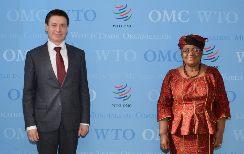Андрей Слепнев обсудил с новым гендиректором ВТО перспективы сотрудничества ЕЭК со Всемирной торговой организацией