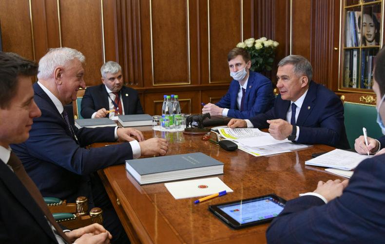 Михаил Мясникович предложил Президенту Республики Татарстан Рустаму Минниханову развивать кооперационные проекты со странами ЕАЭС