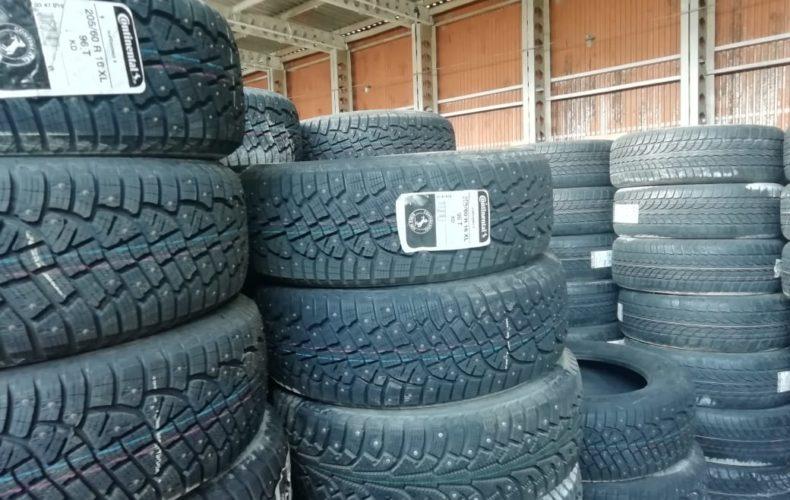 Новосибирские таможенники задержали 15 тонн немаркированных автошин