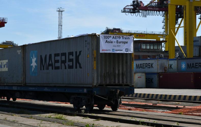 Балтийская таможня оформила 100-й контейнерный поезд по транзитному маршруту Северная Европа – Азия