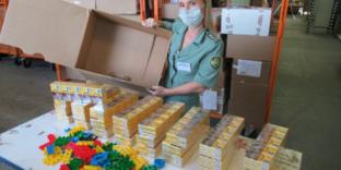 Пулковской таможней пресечена попытка перемещения табачной продукции