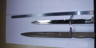 Выборгской таможней изъяты штык-ножи первой половины ХХ века